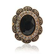 Vintage Damen Ring mit Kristall verziert