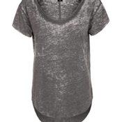 Sublevel Vintage Damen T-Shirt | Elegantes Shirt mit Used Washed Effekt dunkel grau S