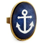 Miss Lovie Damen Vintage Anker Nautisch Ring