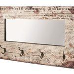 HAKU Wandgarderobe mit Spiegel und 4 Haken Vintage 89943 Bunt 1