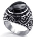 Silber Edelstahl Herren-Ringe