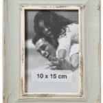 condecoro Bilderrahmen Natal Shabby Vintage Fotorahmen Holz in grau