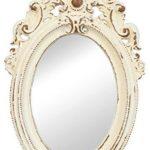 Clayre & Eef 62S022 Spiegel Wandspiegel oval creme ca. 14 x 20 cm