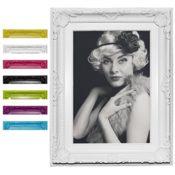 Bilderrahmen Foto Galerie Bild Rahmen Bilder Collage Barock 6 Farben in 5 Größen (Weiß, 10X15)
