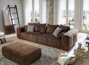 Cavadore Sofa Wildleder braun