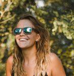 Holz Sonnenbrille aus Echtholz - blau