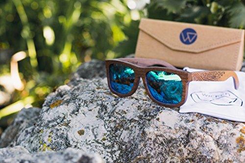 Nachhaltige Holzsonnenbrillen aus Echtholz