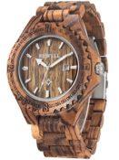 Uhr aus Zebraholz