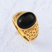 Beydodo Vintage Edelstahl Ring